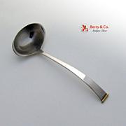 Gold Tip Sauce Ladle 18K Gold Gorham Sterling Silver