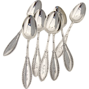 Olympic Teaspoons 8 pieces Schulz and Fischer 1872 Sterling