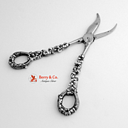 Grape Shears Heavy Cast Sterling Silver
