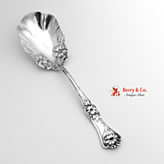 Floral Scroll Serving Spoon Silver Plate William Rodgers 1906