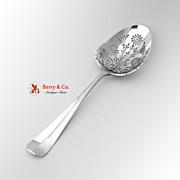 Dutch Pierced Serving Spoon Sterling Silver 1923