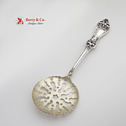 Floral Pea Spoon Sterling Silver Baker Manchester 1915