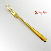 Sterling Silver Small Fork Yellow Enamel Norway