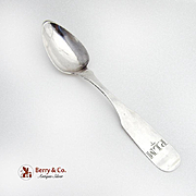 Fiddle Teaspoon Coin Silver Robinson 1830
