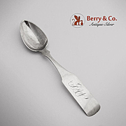 Teaspoon Coin Silver Alexander McGrew 1870