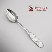 Coffin End Teaspoon Coin Silver EM 1800