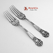 SOLD Georgian Youth Forks Sterling Silver Pair Towle 1898