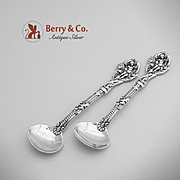 Versailles Master Salt Spoons Sterling Silver Pair Gorham 1885