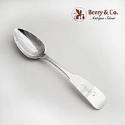 Antique Coin Silver Dessert Spoon William Mitchell Jr Richmond VA 1840