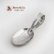 Curved Handle Baby Spoon John Alden Sterling Silver Watson 1911