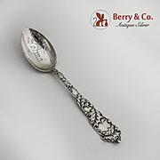 Mistletoe Teaspoon Sterling Silver Alvin 1900