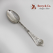 Danish Table Spoon 830 Silver Engraved Decorations 1904