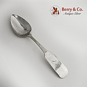 Coin Silver Table Spoon NY 1840 Wm Jones SC Retailer