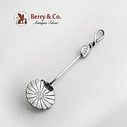 Figural Flower Salt Spoon Sterling Silver