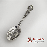 Washington D.C. Souvenir Spoon The Capitol Sterling Silver Watson 1900