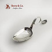 Norwegian Tea Caddy Spoon Twist Handle 830 Standard Silver 1896