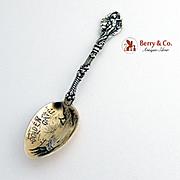 Versailles Golden Gate Souvenir Demitasse Spoon Sterling Silver Gorham 1885