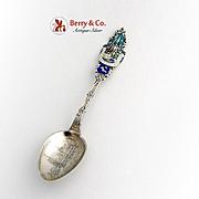 Canadian Souvenir Demitasse Spoon Ottawa Parliament Buildings Sterling Silver 1900