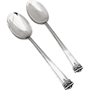 Trianon Pair of Serving Spoons Sterling Silver International 1921