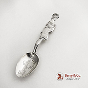 Bathing Beauty Souvenir Spoon Sterling Silver Paye and Baker 1900