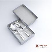 Virginia Sterling Baby Flatware Set Spoon Fork Sterling Silver Weidlich 1929