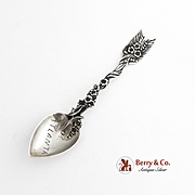 Shiebler Arrow and Heart Demitasse Spoon Sterling Silver 1895
