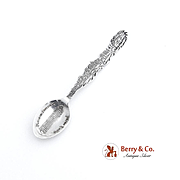 New York Skyline Demitasse Souvenir Spoon Sterling Silver Flatiron Building Bowl Paye and Bake