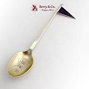 Anderson College Souvenir Spoon Sterling Silver Enamel