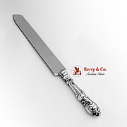 Baroque Style Bread Knife Sterling Handle