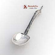 Vintage Chinese Large Ornate Serving Spoon