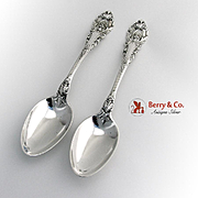 Sir Christopher Pair of Serving Spoons Sterling Silver Wallace 1936