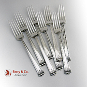 Trianon Set of 8 Luncheon Forks Sterling Silver International 1921