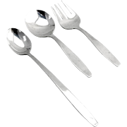 Baby Flatware Set Spoon Fork Infant Feeding Spoon Towle Sterling Silver