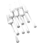 Trianon salad Forks Set of 8 Sterling Silver International 1921