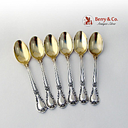 Chantilly Set of 6 Demitasse Spoons Sterling Silver Gorham Silversmiths Old Mark