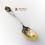 Elk Lodge Souvenir Citrus Spoon Durgin Madame Royale Sterling Silver 1897