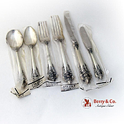 Grande Baroque 6 Piece Place Setting Sterling Silver Wallace