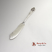 Orchid Master Butter Knife Sterling Silver Watson 1903