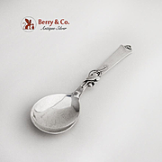 Danish Vine Blossom Small Serving Spoon Charles M Cohr Sterling Silver 1950