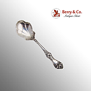 Baker Manchester Floral Sugar Spoon Sterling Silver 1900
