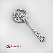 Lattice Scroll Nut Candy Spoon Paye And Baker Sterling Silver 1900