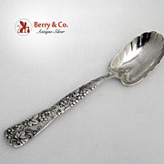Tiffany Grape Vine Berry Spoon Sterling Silver 1872 Monogram H