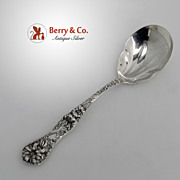 Yetive Preserve Spoon Art Nouveau Floral Sterling Silver Monograms