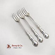 Rondo Cocktail Forks Set Sterling Silver 1951