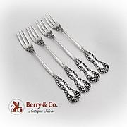 Revere Cocktail Forks Set International Sterling Silver 1898