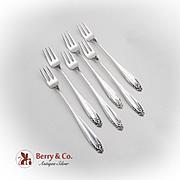 Prelude Cocktail Forks Set International Sterling Silver 1940