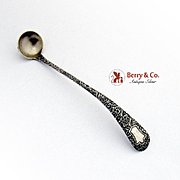 Antique Chased Mustard Ladle Whiting Sterling Silver 1882 No Mono