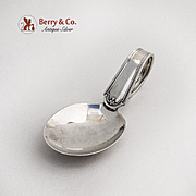 Vintage Baby Spoon Curved Handle Minor Pattern Sterling Silver