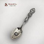 Antique Masonic California Souvenir Spoon  Enamel Cross Sterling Silver