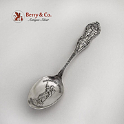Portland Expo Souvenir Spoon Sacajawea Embossed Bowl Butterfield Bros Sterling